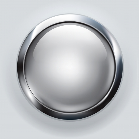 round: silver button background  Stock Photo