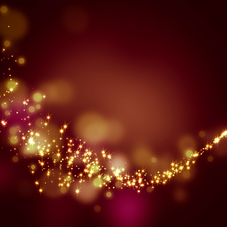 glittering stars on bokeh background  Imagens