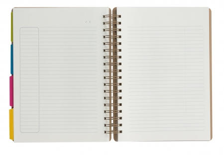 Blank Notebook isolated on the white background photo
