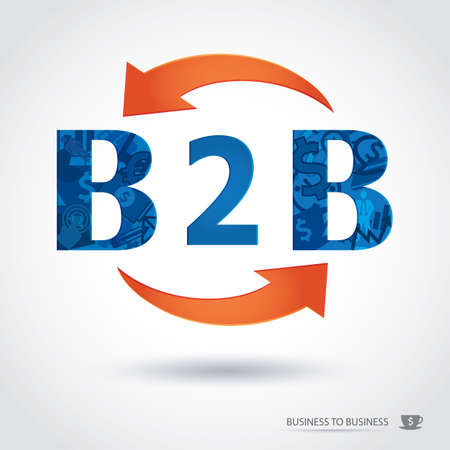 b2b,business to business Vector
