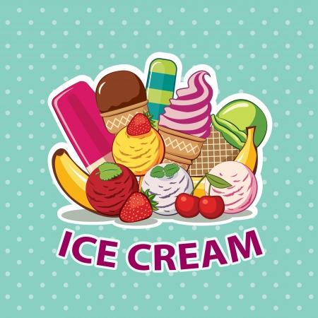 Conjunto de hielo de crema Foto de archivo - 21551507