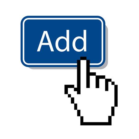bouton ajouter: ajouter un bouton avec le curseur de la souris Illustration
