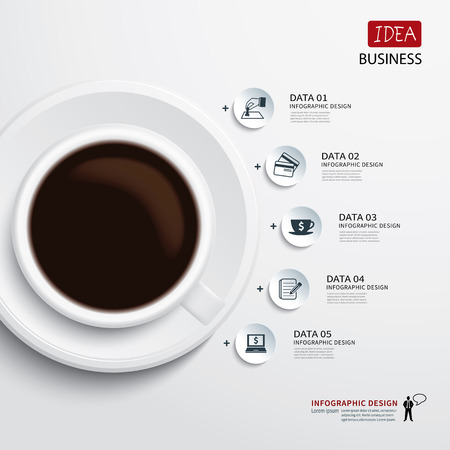 coffee cup and business infographic Vector