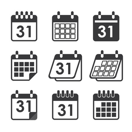 calendar icons: icon calendar Illustration
