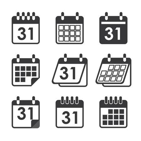calendario: icono de calendario Vectores