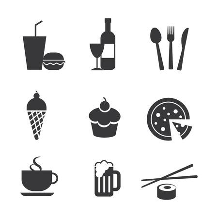 eten en drinken iconen