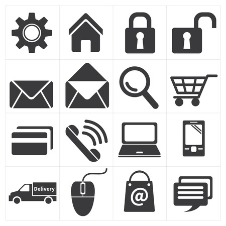 e commerce: icon e commerce and shopping