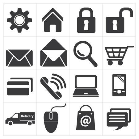 e commerce: icoon e commerce en winkelen