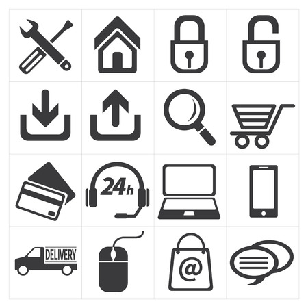 e commerce: pictogram e-commerce en winkelen