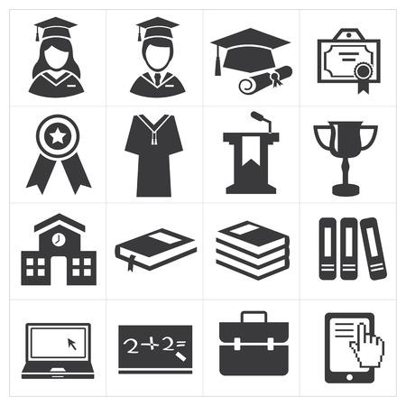 college graduation: icon education  Illustration