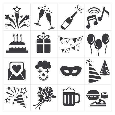 pictogram feestje vieren Vector Illustratie