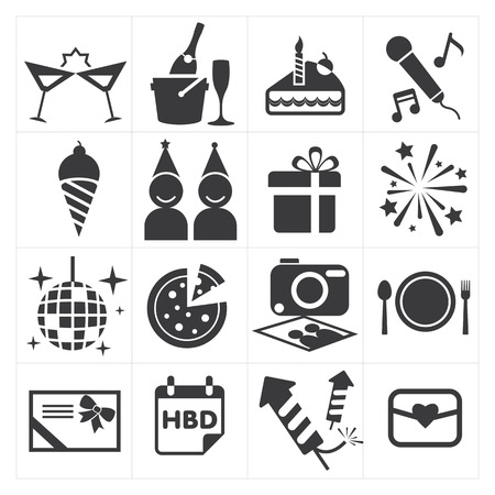 event: icon party celebrate Illustration