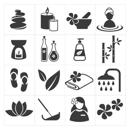icône spa et massage Illustration