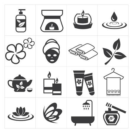 massage symbol: icon spa and massage