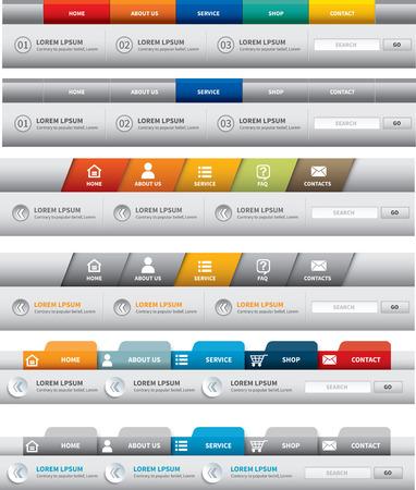 web site template  navigation element  navigation menu bar