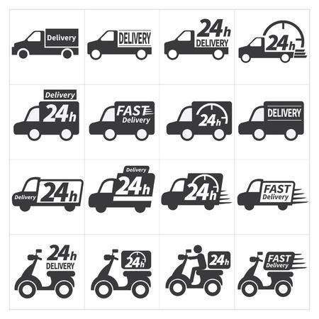 24h: Delivery car icon