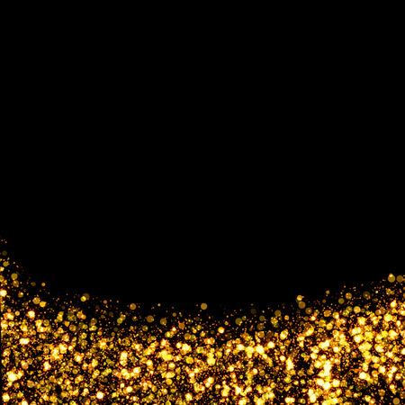 fondos negros: rastro fondo de oro brillo