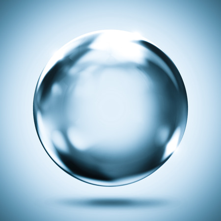 sphere crystal reflection background