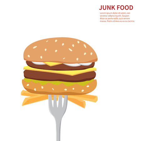 food illustrations: junk food background  isolated