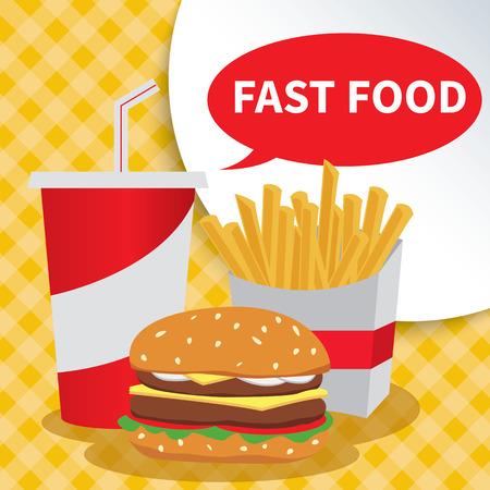 food background: fast food