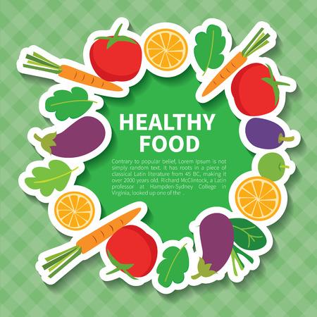 farmers market: healthy food
