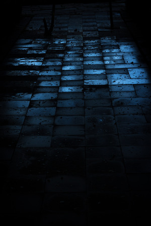 concrete blocks: dark brick floor abstract