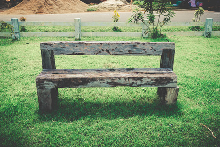 wood bench: old wood bench retro style