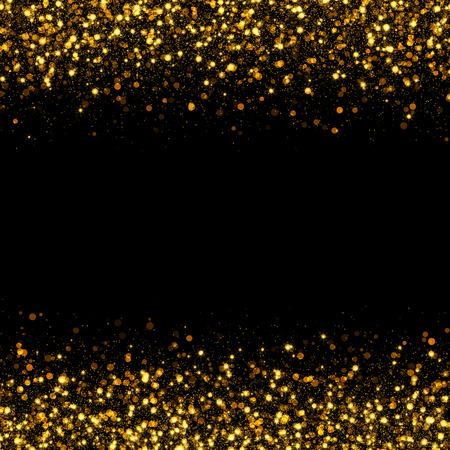 shiny black: gold glittering bokeh abstract background