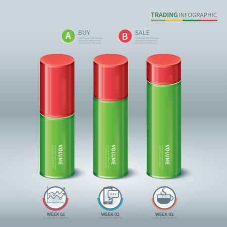 cylindrical: trading cylindrical bars infographic