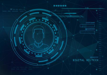 digital print: identity technology background