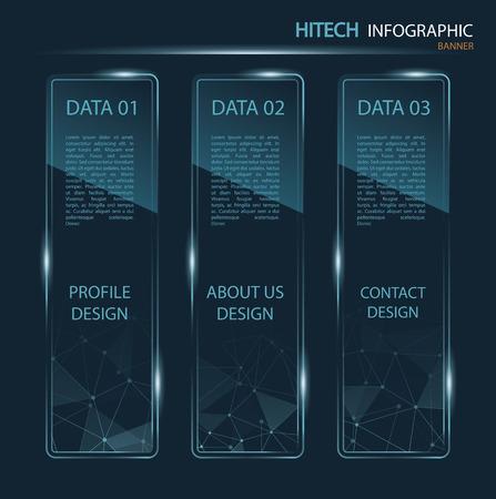 hitech: hi-tech banner infographic Illustration