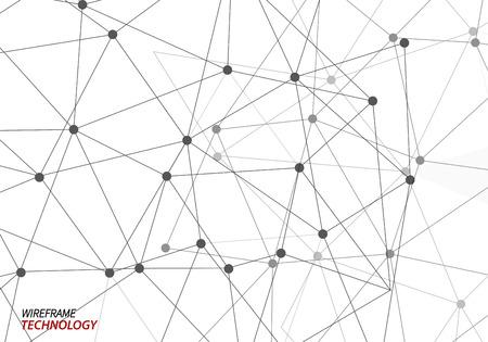 redes electricas: tecnología alambre marco de fondo