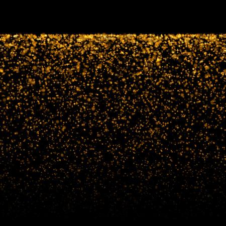 staub: Gold glitzernden Bokeh Sternen bewertet Staub