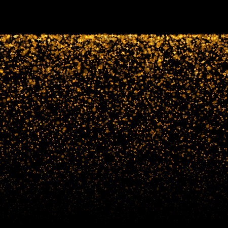 gold glittering bokeh stars dust