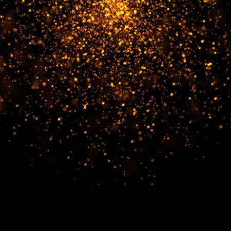 amarillo y negro: oro estrellas brillantes bokeh polvo Foto de archivo