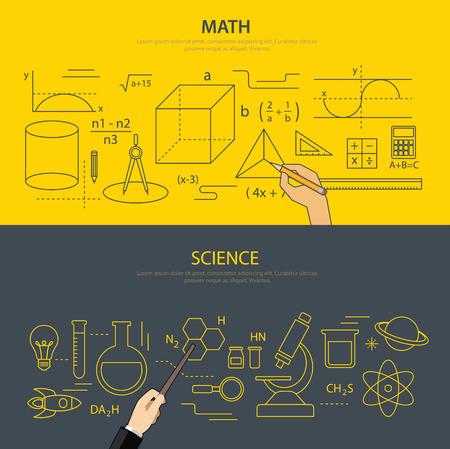 Educación en matemáticas y ciencias concepto Foto de archivo - 39216203