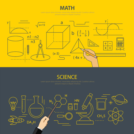 science chemistry: math and science education concept Illustration