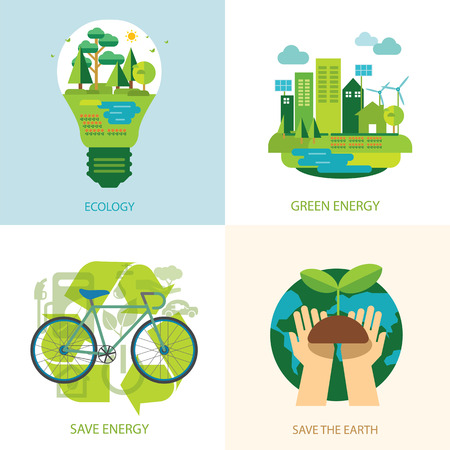 save the world and clean energy concept