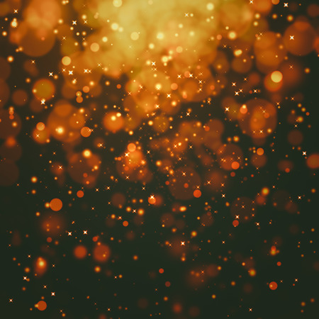 black textured background: glittering stars on bokeh background