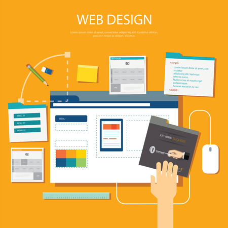 web graphics: website development project design concept