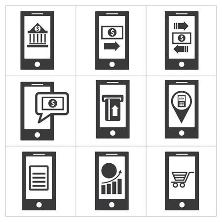 phone card: mobile banking icon Illustration