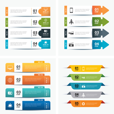 set van infographic templates Stock Illustratie