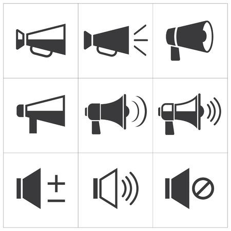 megaphone icon: set of megaphone icon