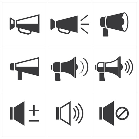 set van megafoon pictogram