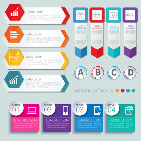 arrow icons: set of infographic templates