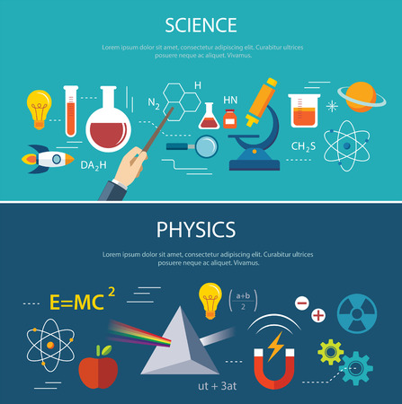 laboratory research: science and physics education concept