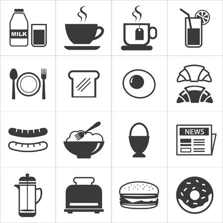 set van ontbijt icoon Stock Illustratie