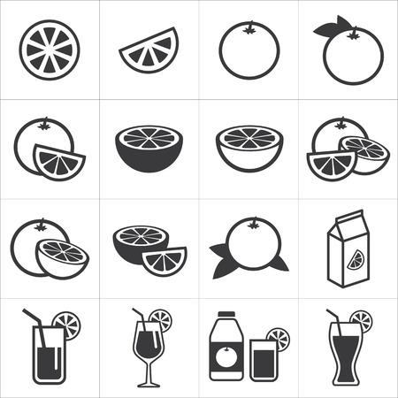 orange fruit: set of orange icon
