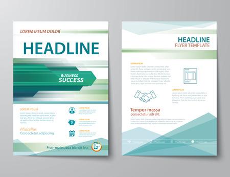 ビジネス雑誌の表紙、フライヤー、パンフレット フラット デザイン テンプレートの設定