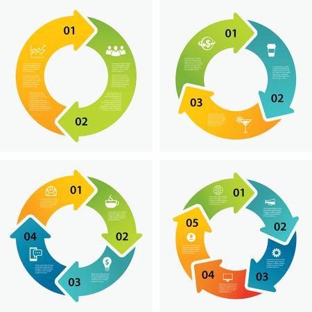 Satz von Infografik-Vorlagen Standard-Bild - 41817768